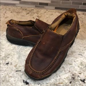 Boys Timberland Brown Leather shoes size 5.5